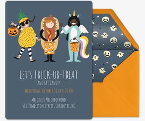trick or treat halloween invitations evite