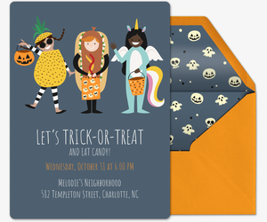 Trick or Treat Invite Invitation
