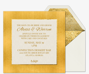 Heart of Gold Engagement Invitation