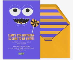 Candy Monster Invitation
