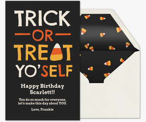 Trick Or Treat Yo'self  Invitation