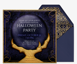 Online halloween costume party invitations evite crystal ball invite invitation stopboris Images