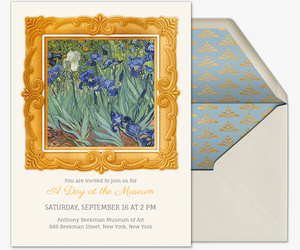 Gallery Frame Gold Invitation