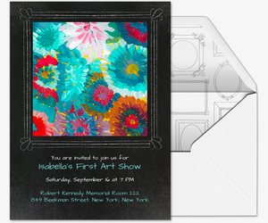 Gallery Frame Sketch Invitation