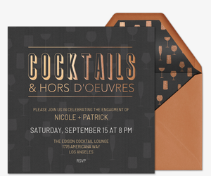 Free cocktail party invitations rsvp tracking evite cocktails and hors doeuvres invitation stopboris Gallery