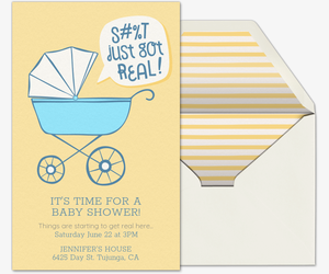 Free baby shower invitations evite just got real invite invitation filmwisefo