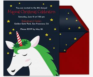 magical holidays invitation