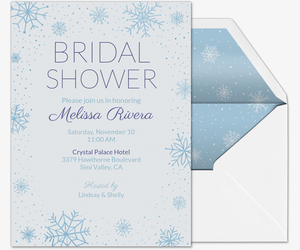 holiday wedding bridal shower invitation