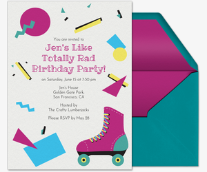 Free birthday party invitations for her evite 90s themed party invitation filmwisefo