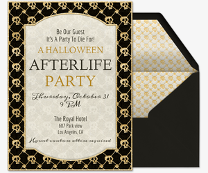 After Life Skulls Invitation