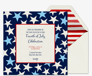 Allstars Invitation Premium July Fourth Fireworks