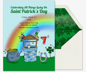 All Things Lucky Invitation