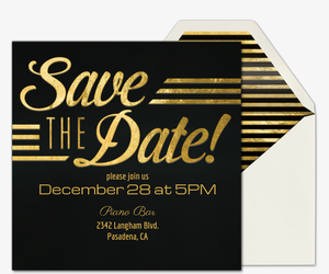 premium save the date cards evite