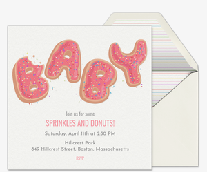 Baby Donut Sprinkles Invitation