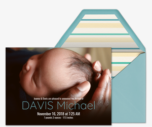 Baby Name Center Invitation