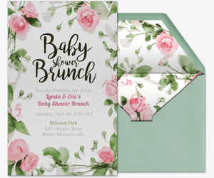 Baby Shower Brunch Invitation