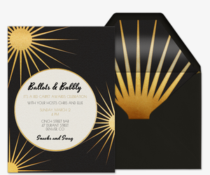 Ballots and Bubbly Invitation