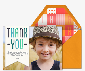 Banner of Thanks Card