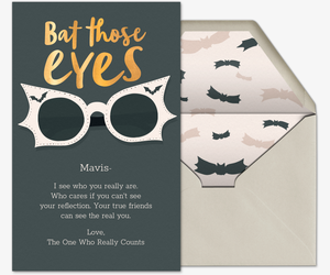 Bat Those Eyes Card