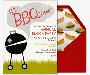 bbq time invitation