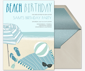 Free Beach Party Online Invitations