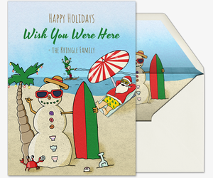Beach Bum Santa Card