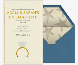 Free Engagement Party Invitations Evite Com