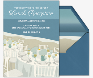 Beach Table Invitation