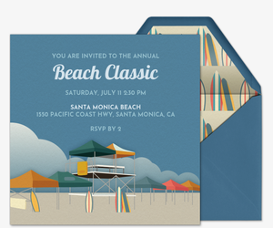 Beach Tournaments Invitation
