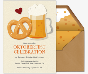 Beer and Pretzel Invitation