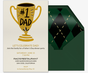 Best Dad Invitation