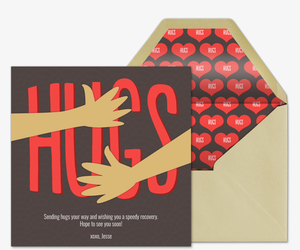 Hugs Card Invitation