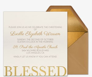 Blessed  Invitation