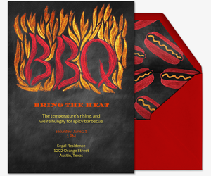 Bring the Heat Invitation