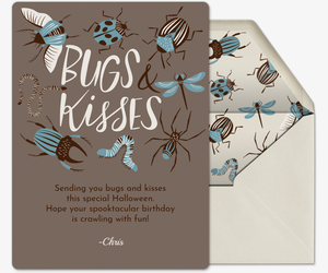 Bugs and Kisses Invitation