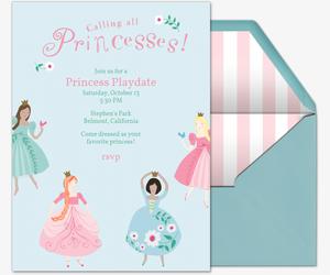 Calling All Princesses Invitation