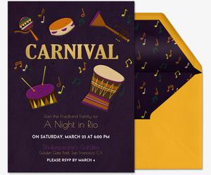 Mardi Gras Confetti · Carnival Invitation