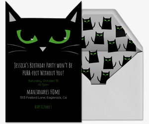 Cat Eyes Invite Invitation