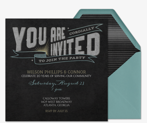 Chalk It Up Invitation