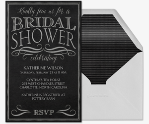 Chalkboard Chic Bridal Shower Invitation