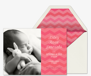 Chevron Welcome Invitation