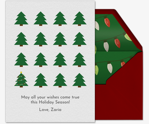 Christmas Tree Pattern Card