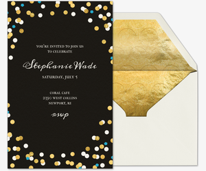 Confetti Love Graduation Invitation
