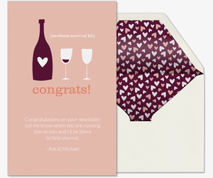 Congrats Wine Survival Kit Card