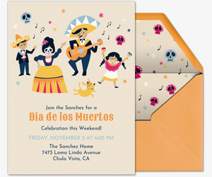 Day of the Dead Fiesta Invitation
