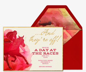 Derby Rose Invitation
