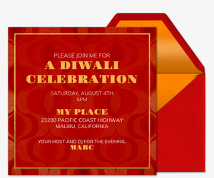 Free Online Diwali Party Invitations Evite
