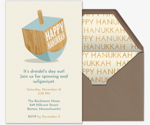 Dreidel Invitation