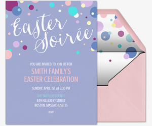 Easter Soiree Invite Invitation