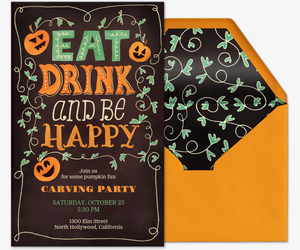 Eat Drink and Be Happy Invitation